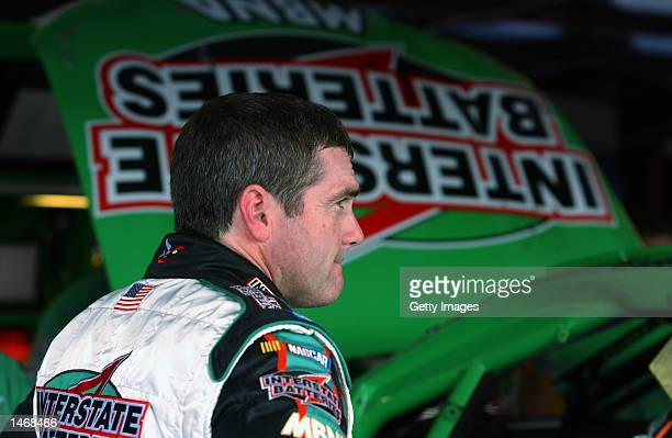 Bobby LaBonte driver of the Pontiac Grand Prix during practice for the EA Sports 500 at Talladega Superspeedway on October 4 2002 in Talladega Alabama