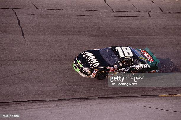 Bobby Labonte drives his car during practice for the Daytona 500 at the Daytona International Speedway on February 17 2001 in Daytona Beach Florida
