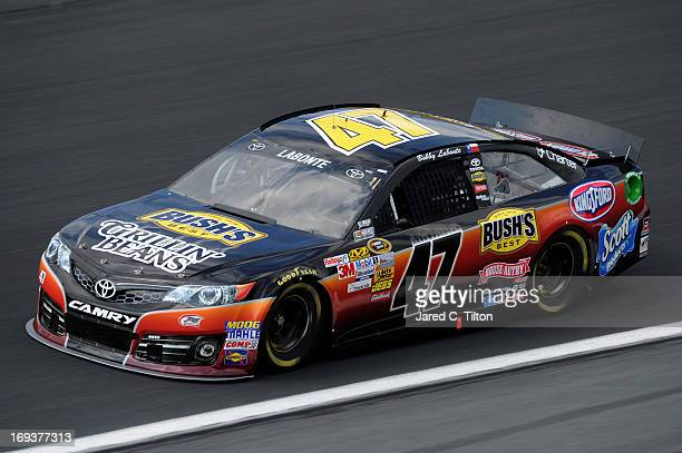 Bobby Labonte drives the Bush's Grillin' Beans Toyota during practice for the NASCAR Sprint Cup Series CocaCola 600 at Charlotte Motor Speedway on...