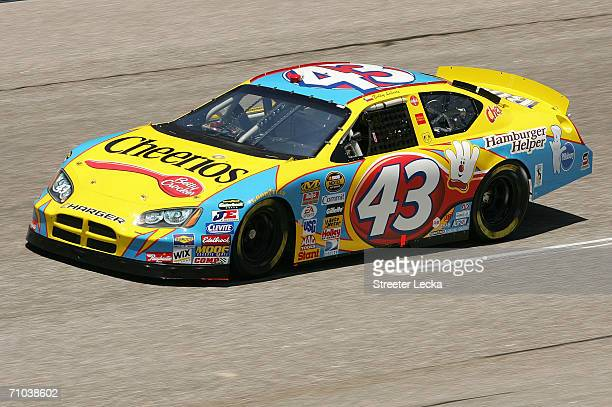Bobby Labonte drives the Cheerios/Betty Crocker Dodge during practice for the NASCAR Nextel Cup Series Dodge Charger 500 on May 12 2006 at the...