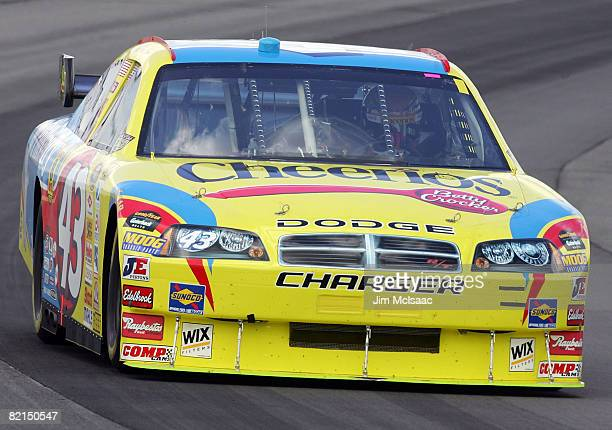 Bobby Labonte drives the Cheerois Racing/Betty Crocker Dodge during practice for the NASCAR Sprint Cup Series Pennsylvania 500 at the Pocono Raceway...