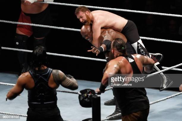 Bobby Lashley in action vs Sami Zayn WWE Live AccorHotels Arena Popb Paris Bercy on May 19 2018 in Paris France