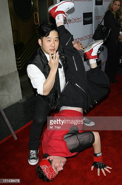 Bobby Lee and Jamie Kennedy during Kickin' It Old Skool After Party Arrivals at The Music Box in Hollywood California United States