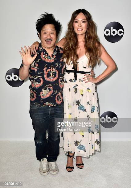 Bobby Lee and Lindsay Price attend the Disney ABC Television TCA Summer Press Tour at The Beverly Hilton Hotel on August 7 2018 in Beverly Hills...