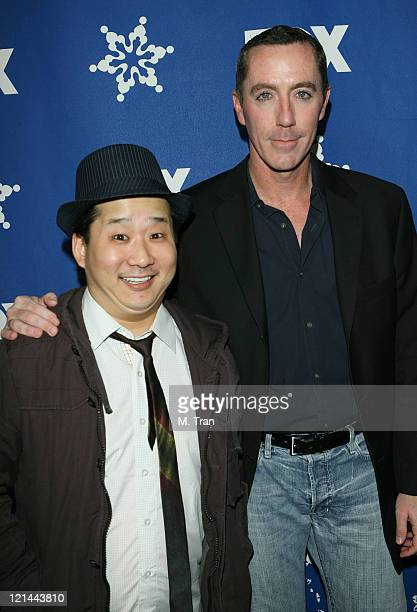 Bobby Lee and Michael McDonald during Fox AllStar TCA Party at Villa Sorriso in Pasadena California United States