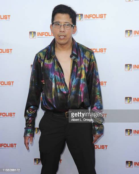 Bobby Lin attends InfoListcom's PreComicCon Bash held at Wisdome Immersive Art Park on July 11 2019 in Los Angeles California