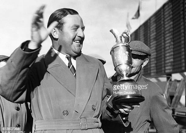 Bobby Locke Wins The Open Golf Championship The Champion And His Cup Bobby Locke the South African Golf Star seen with the cup after he had won the...