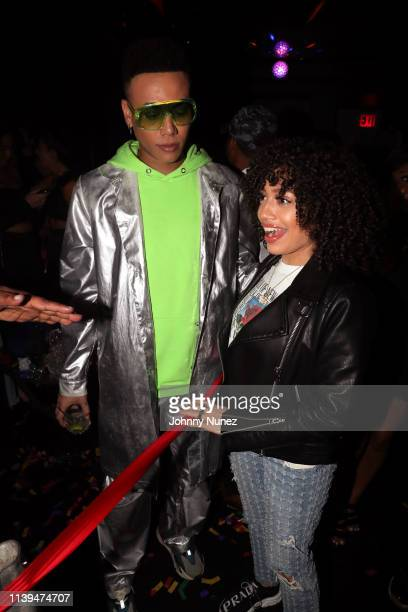 Bobby Lytes and Ivy Rivera attend the NFL Draft Viewing Party Hosted By Wale, Le'Veon Bell and Derrick Jones at Pomona on April 25, 2019 in New York...