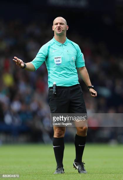 Bobby Madley the referee looks on during the Premier League match between West Bromwich Albion and AFC Bournemouth at The Hawthorns on August 12 2017...