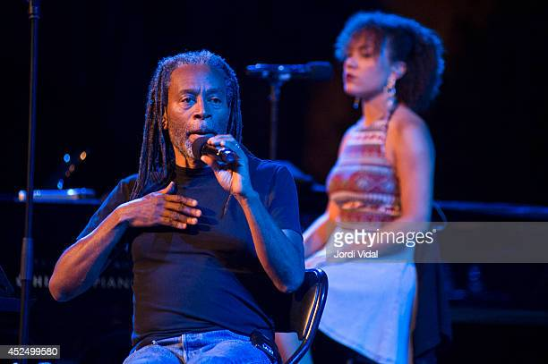 Bobby McFerrin and Madison McFerrin perform on stage at Teatre Grec on July 21 2014 in Barcelona Spain