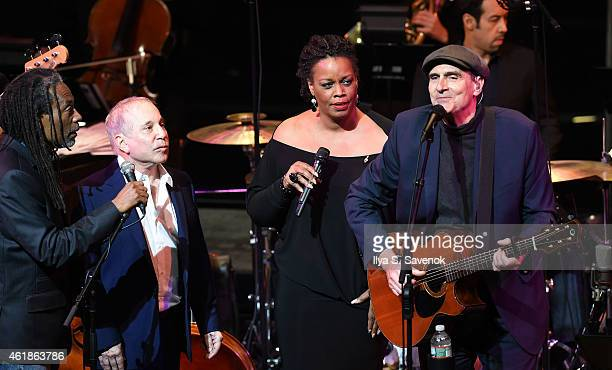 Bobby McFerrin Paul Simon Dianne Reeves and James Taylor perform during The Nearness Of You Benefit Concert at Frederick P Rose Hall Jazz at Lincoln...