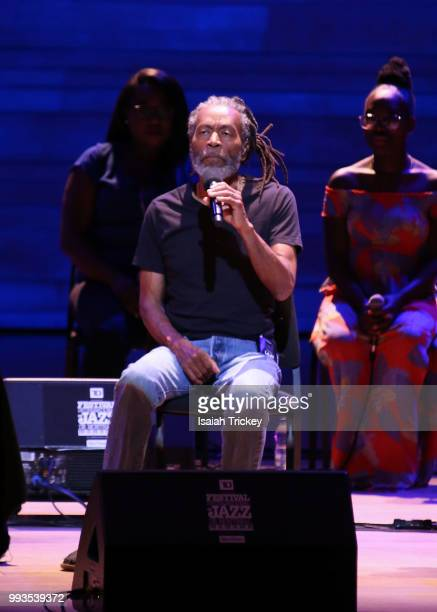 Bobby McFerrin performs during the 2018 Montreal International Jazz Festival at the Symphonic House of Montreal on July 7 2018 in Montreal Canada