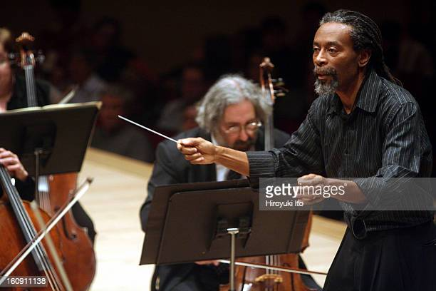 Bobby McFerrin with Orchestra of St Luke's at Carnegie Hall on Sunday afternoon April 6 2008This imageBobby McFerrin conducting the Orchestra of St...