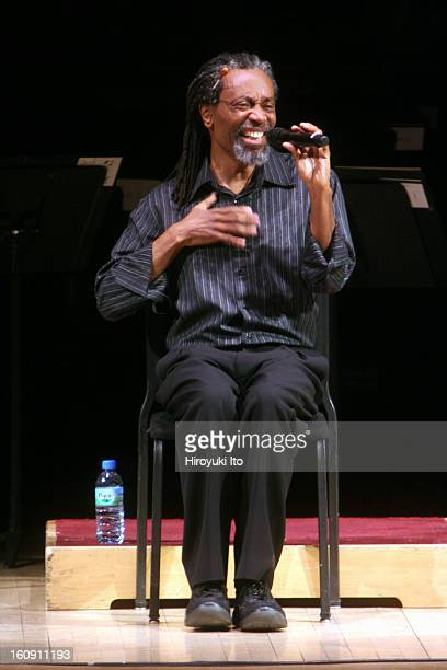 Bobby McFerrin with Orchestra of St Luke's at Carnegie Hall on Sunday afternoon April 6 2008This imageBobby McFerrin performing a cappella...
