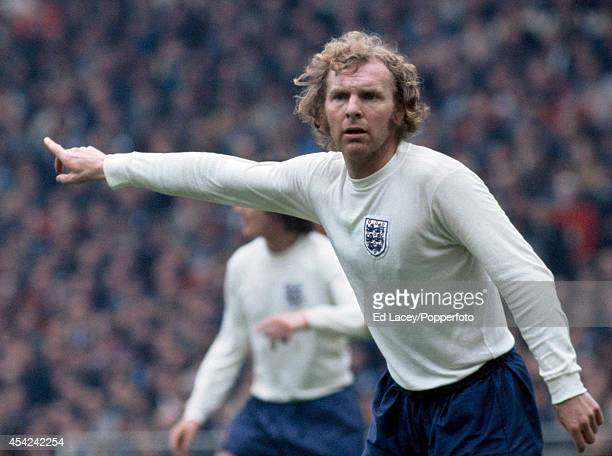 Bobby Moore in action for England against Scotland at Wembey Stadium in London on 19th May 1973 England won 10