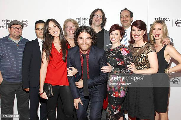 Bobby Moynihan Gil Ozeri Catherine Reitman Marceline Hugot Adam Pally Don Argott Sheena M Joyce Peter Grosz Kate Flannery and Mary Grill attend the...