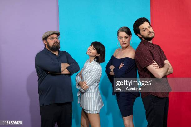 Bobby Moynihan Kate Micucci Paget Brewster and Ben Schwartz of 'Duck Tales' are photographed for Los Angeles Times at ComicCon International on July...