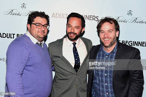 Bobby Moynihan Nick Kroll and Mike Birbiglia attend the New York premiere of Adult Beginners hosted by RADiUS with The Cinema Society Brooks Brothers...