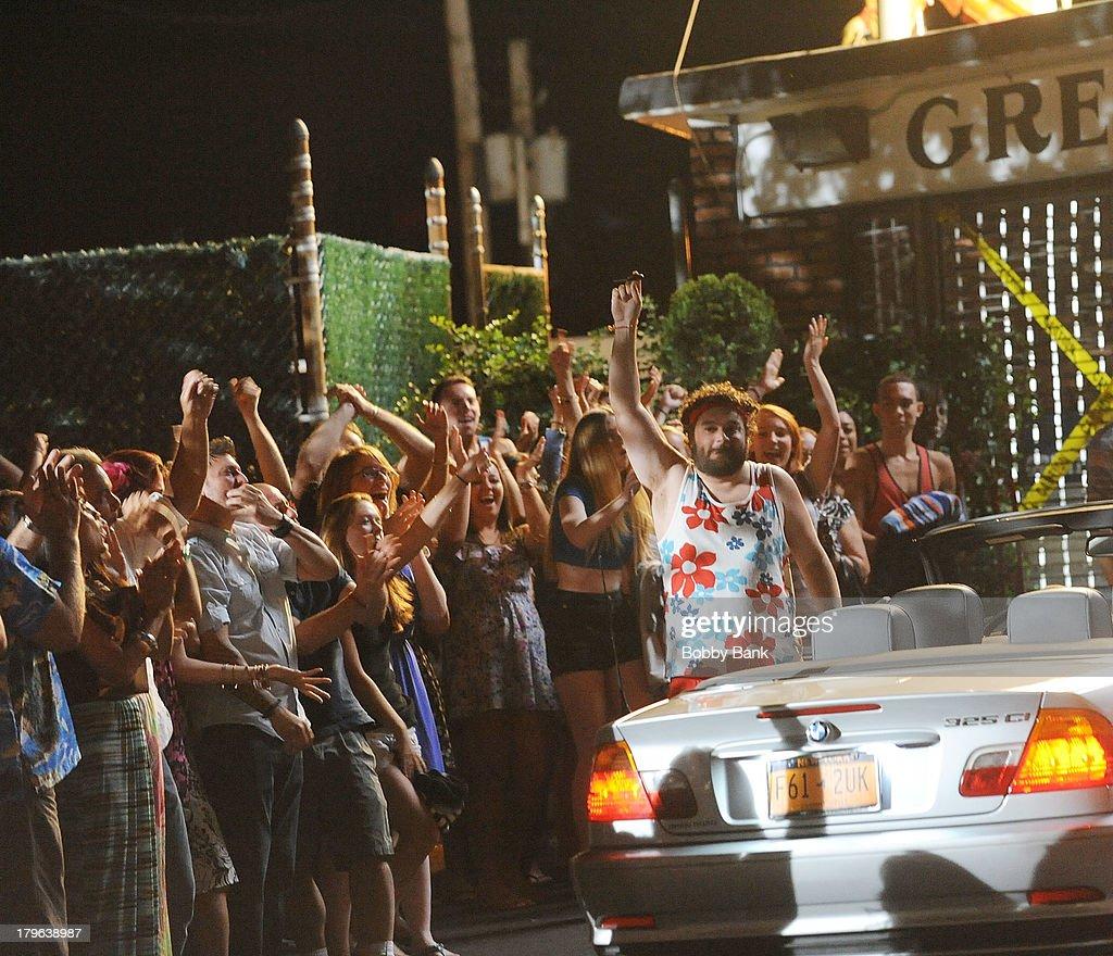 Bobby Moynihan on the set of 'Staten Island Summer' on September 5, 2013 in Staten Island, New York.