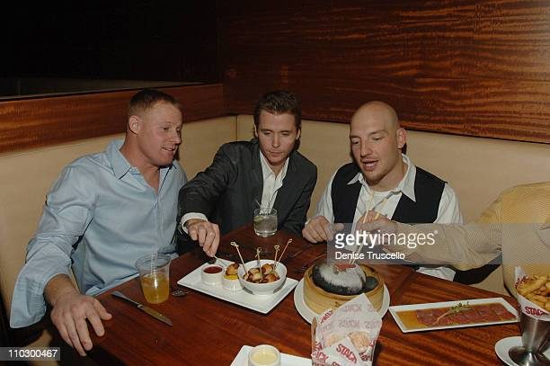 Bobby Nitsch Kevin Connolly and Peter Picataggio during Kevin Connolly at Friends Bachelor Party Dinner at Stack Restaurant at The Mirage Hotel and...