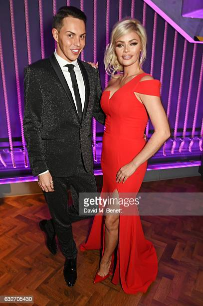 Bobby Norris and Chloe Sims attend the National Television Awards cocktail reception at The O2 Arena on January 25 2017 in London England