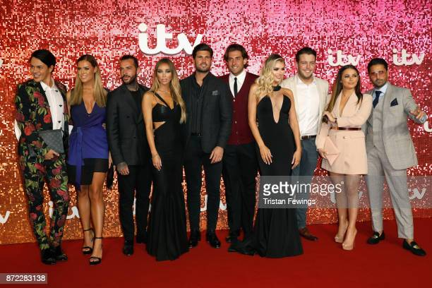 Bobby Norris Chloe Meadows Pete Wicks Lauren Pope Dan Edgar James Argent Chloe Sims James Diags Courtney Green and Liam Blackwell arriving at the ITV...