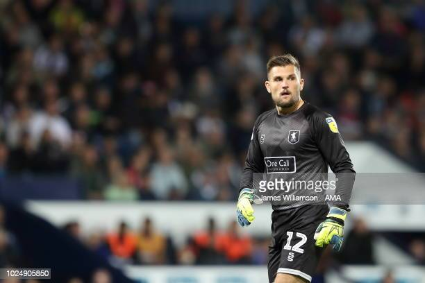 Bobby Olejnik of Mansfield Town during the Carabao Cup Second Round match between West Bromwich Albion and Mansfield Town at The Hawthorns on August...