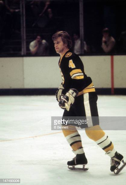 Bobby Orr of the Boston Bruins skates on the ice during an NHL game circa 1975