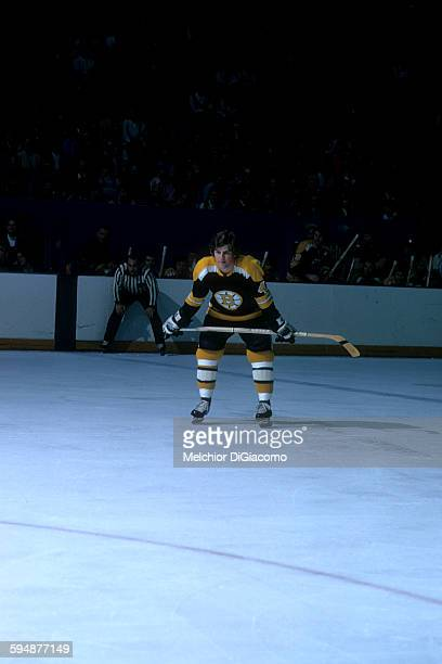 Bobby Orr of the Boston Bruins waits on the ice during an NHL game in January 1973