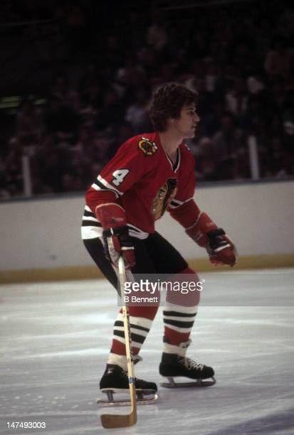 Bobby Orr of the Chicago Blackhawks skates on the ice during an NHL game against the New York Islanders on October 9 1976 at the Nassau Coliseum in...