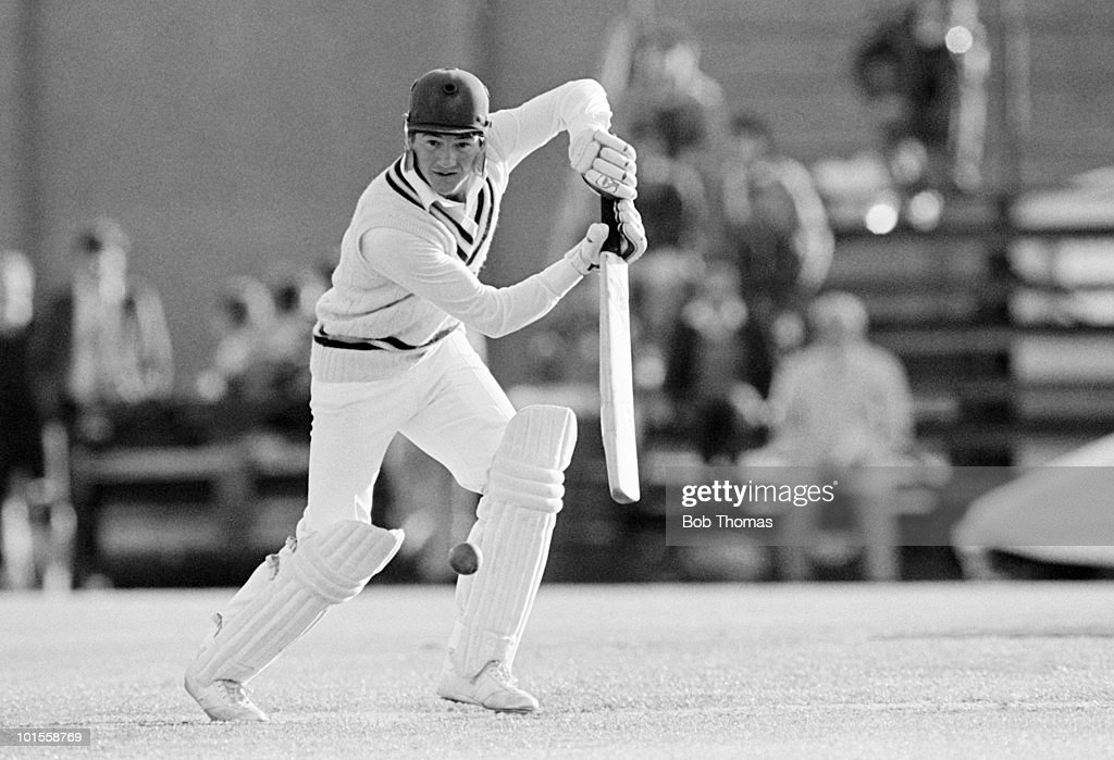 Bobby Parks batting for Hampshire against Kent during a Benson & Hedges Cup cricket match held at The County Ground, Southampton on 15th May 1986. Kent won by 63 runs. (Bob Thomas/Getty Images).