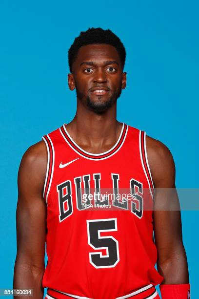 Bobby Portis of the Chicago Bulls poses for a head shot during NBA Media Day on September 25 2017 at the Advocate Center in Chicago Illinois NOTE TO...