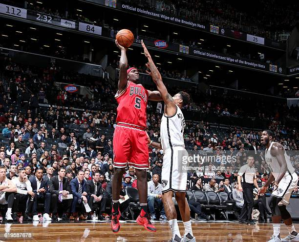 Bobby Portis of the Chicago Bulls shoots the ball against the Brooklyn Nets on October 31 2016 at Barclays Center in Brooklyn New York NOTE TO USER...
