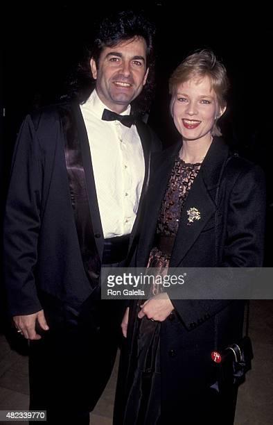 Bobby Poynton and Amy StockPoynton attend Scopus Awards Gala on January 29 1993 at the Beverly Hilton Hotel in Beverly Hills California