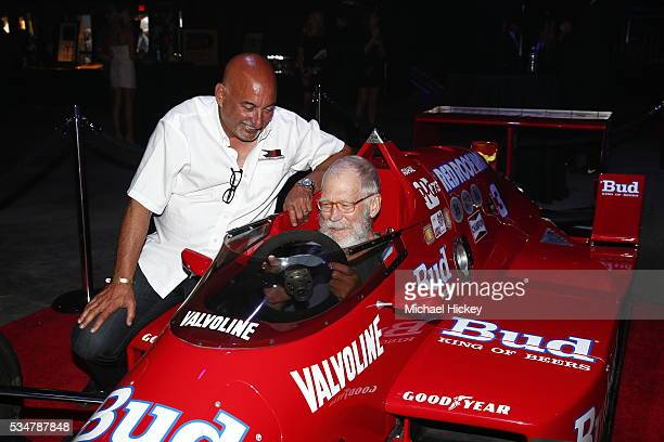 Bobby Rahal and David Letterman are seen at the Maxim Indy 500 Party on May 27 2016 in Indianapolis Indiana