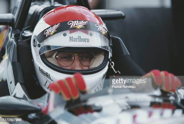 Bobby Rahal of the United States sits aboard the MillerTeam Rahal Reynard 96i MercedesBenz IC108C V8t before the start of the Championship Auto...