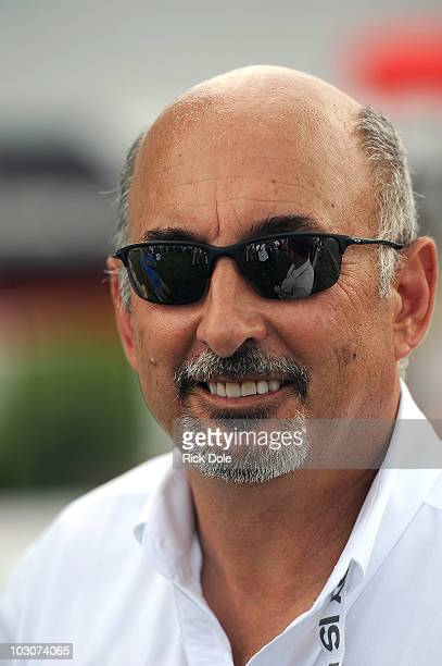 Bobby Rahal owner of the BMW Rahal Letterman Racing Team poses during the American Le Mans Series Northeast Grand Prix at Lime Rock Park on July 24...