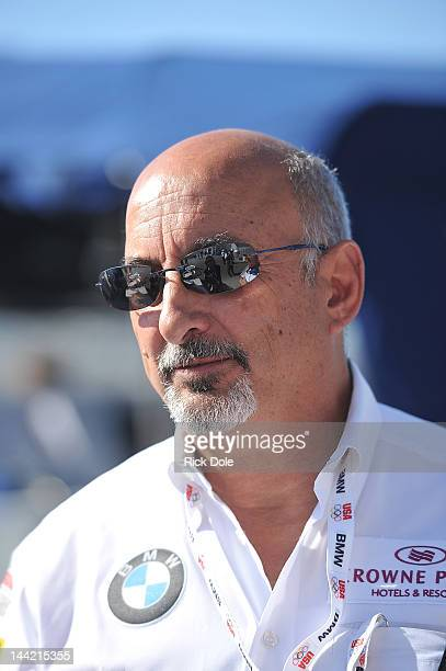 Bobby Rahal team owner of the and BMW Team RLL BMW GT cars during practice for the American Le Mans Series presented by Patron at Mazda Raceway...
