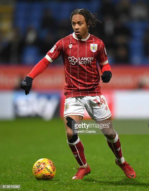 Bobby Reid of Bristol City during the Sky Bet Championship match between Bolton Wanderers and Bristol City at Macron Stadium on February 2 2018 in...