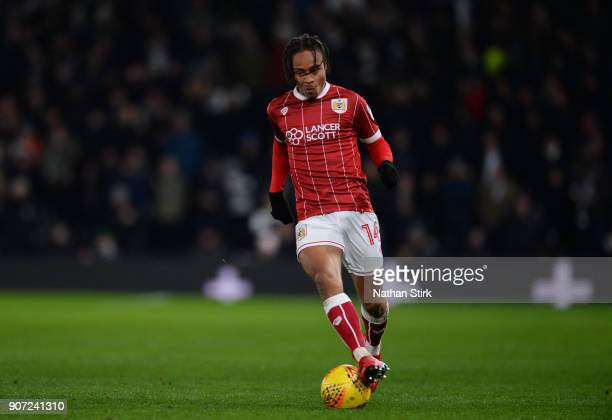 Bobby Reid of Bristol City in action during the Sky Bet Championship match between Derby County and Bristol City at iPro Stadium on January 19 2018...