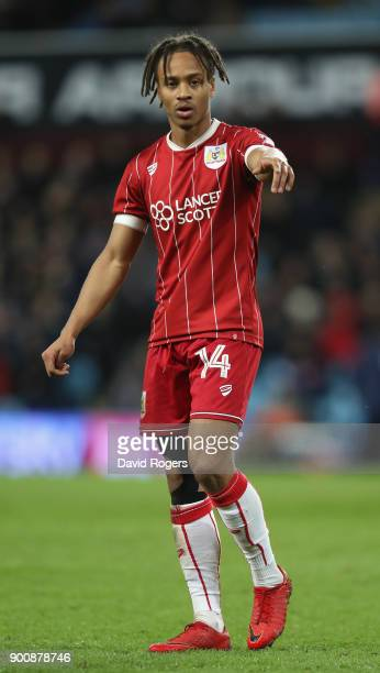 Bobby Reid of Bristol City looks on during the Sky Bet Championship match between Aston Villa and Bristol City at Villa Park on January 1 2018 in...