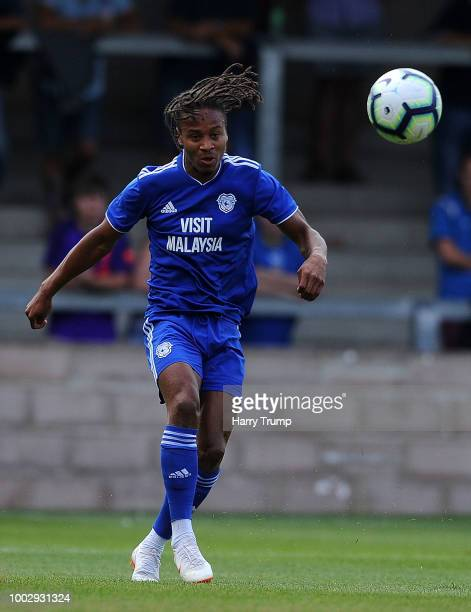 Bobby Reid of Cardiff City during the PreSeason Friendly match between Torquay United and Cardiff City at Plainmoor Ground on July 20 2018 in Torquay...