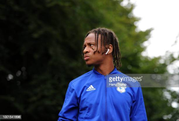 Bobby Reid of Cardiff City during the PreSeason Friendly match between Bodmin Town and Cardiff City at Priory Park on July 18 2018 in Bodmin England