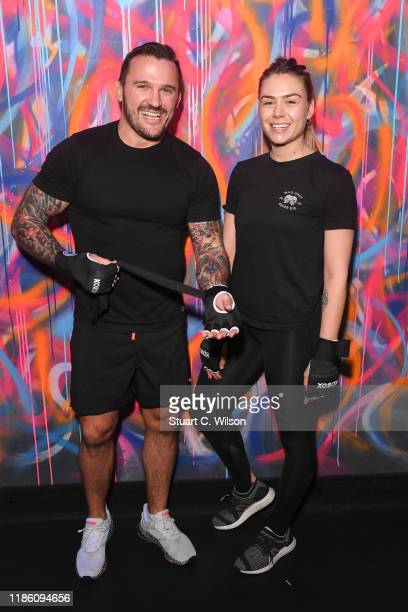 Bobby Rich and guest take part in a charity KOBOX class at KOBOX Marylebone raising funds for Rainbow Railroad a charity which helps members of the...