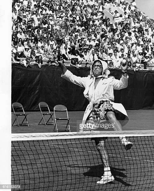 Bobby Riggs on the tennis court circa 1973 in Forest Hills Queens