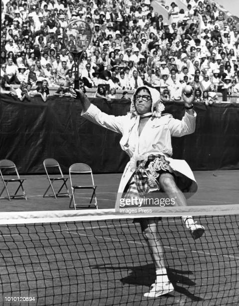 Bobby Riggs on the tennis court circa 1981 in New York City