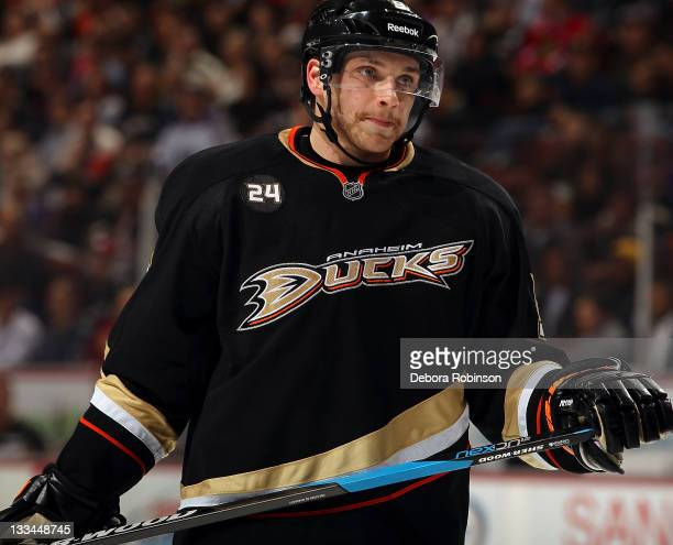 Bobby Ryan of the Anaheim Ducks skates on the ice during the game against the Los Angeles Kings on November 17 2011 at Honda Center in Anaheim...