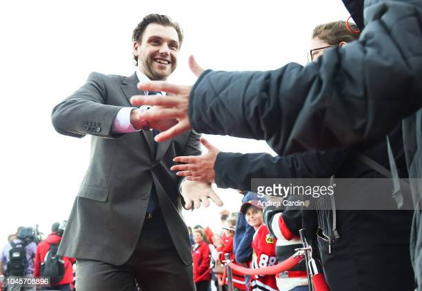 Bobby Ryan of the Ottawa Senators walks the red carpet ahead of an NHL game against the Chicago Blackhawks at Canadian Tire Centre on October 4 2018...