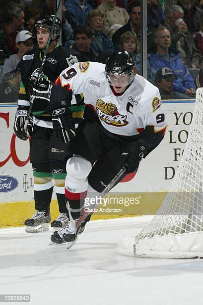 Bobby Ryan of the Owen Sound Attack skates against the London Knights at the John Labatt Centre on September 29, 2006 in London, Ontario, Canada.
