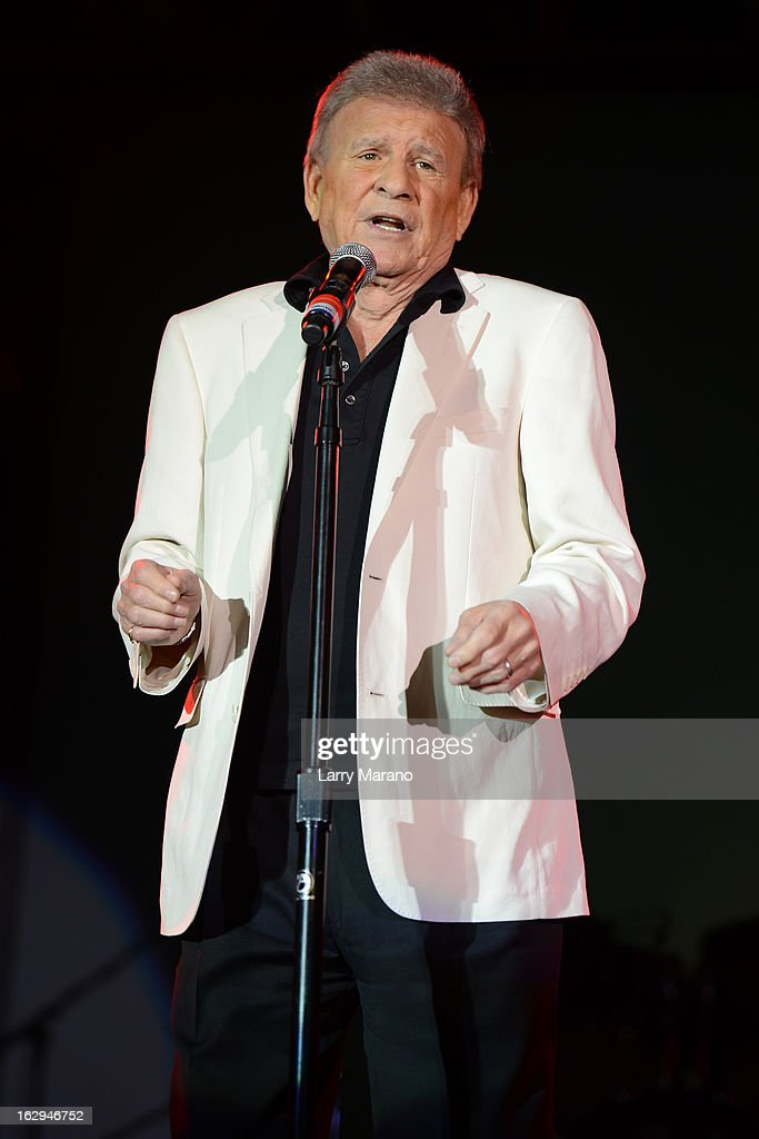 Bobby Rydell of The Golden Boys performs at the Pavillon at Seminole Casino Coconut Creek on March 1, 2013 in Coconut Creek, Florida.
